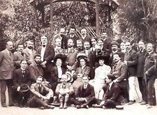 STAMPA FOTO ALINARI - PARTECIPANTI AL 10° CONGRESSO PARTITO SOCIALISTA - 1908