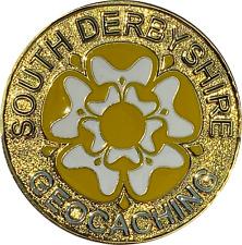 South Derbyshire Geocachers Geocoin - Shiny Gold Geocaching Trackable