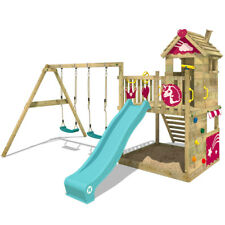 WICKEY Spielturm Klettergerüst Smart Sparkle - Stelzenhaus mit Doppelschaukel