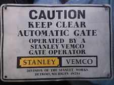 "Stanley Tools Vemco Aluminum Sign Quality Tools Garage Mechanic Shop  7x10"" Gate"