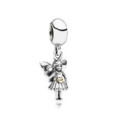 Gold Silver Angel girl Dangle Pendent Charm Bead For 925 Sterling Bracelet
