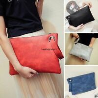 New Women Envelope Leather Clutch Evening Party Handbag Wallet Tote Purse Bag WN