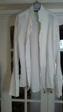 i M&S Men Cotton Wing Collar White Dress Shirt Size 16