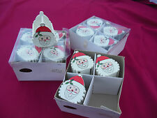 12 Mini Santa Christmas Baskets, Wooden For Toys or Candy, Slightly Used Only