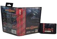 Mortal Kombat II (Sega Genesis, 1994) Case & NO MANUAL - Authentic & TESTED!