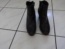 Gabor Stiefelette, Leder schwarz, Gr. 37,5  4 1/2,6,5 cm Absatz