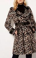 New KAREN MILLEN Leopard Print BNWT £375 Evening Spring Autumn Winter Coat UK 16