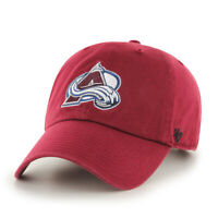 Colorado Avalanche NHL Hockey Burgundy '47 Brand Clean Up Cap Adjustable
