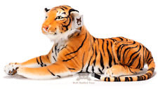 "Medium / Large Lifelike Plush Tiger Stuffed Soft Toy 140cm 50"" With The Tail"