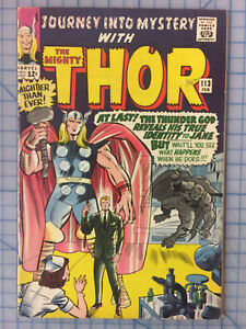 Journey into Mystery #113 in 7.0 FN/VF Early Classic Thor! Magneto! B@@yah!