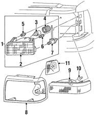 Genuine Ford Park/Turn Lamp F5TZ-13201-AB