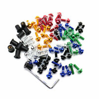 10x Motorcycle Windscreen Windshield Bolt Kit Rubber Well Nuts/ Bolts/ Washers