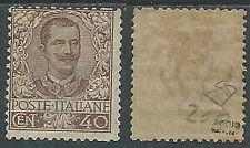 1901 REGNO FLOREALE 40 CENT MH * - W252