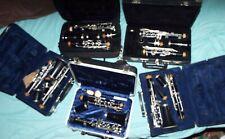 Lot of 5 Clarinets  Yamaha, Bundy ,Selmer, Vito