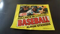 1982 O-Pee-Chee ( OPC ) UNOPENED pack of 5 Baseball Stickers - NR-MT
