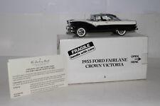 DANBURY MINT 1955 FORD FAIRLANE CROWN VICTORIA, BLACK & WHITE, 1:24, BOXED