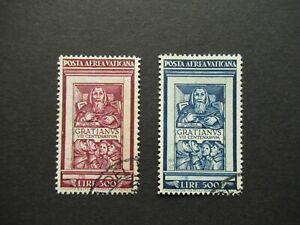 1951 300 + 500 LIRE VATICAN VATICANA POSTA AEREA GRATIANUS VF USED B308.7 $0.99