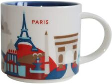 NWT Starbucks PARIS France City Mug YAH Coffee you are here 14oz NEW wSKU