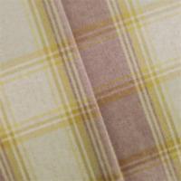 Winter Sewing Fabric Wool//Blend Plaid Green Cream Herringbone Check 145cm x 1m