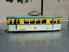 VINTAGE TIN TOY TROLLEY TRAM AGATEX A-119 60'S FRICTION POWERED MADE IN ROMANIA