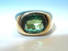 Unbehandelte Echtschmuck-Ringe aus Gelbgold mit Turmalin-Perlen
