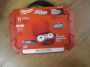 Milwaukee HOLE DOZER 11pc Bi-Metal Hole Saw Kit 49-22-4020 BRAND NEW