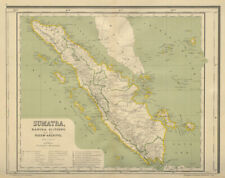 SUMATRA. Dutch East Indies. Indonesia. DORNSEIFFEN 1902 old antique map chart