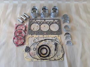 Kubota D722 Overhaul/Rebuild / Rebuild Kit /Pistons, Rings, Bearings, Gasket Set