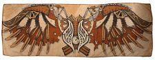 Steampunk Scarf Tan & Brown Winged Pattern Viscose Decorative Shawl Scarf 73X28