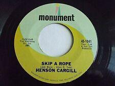 Henson Cargill Skip A Rope / A Very Well Traveled Man 45 1967 Vinyl Record