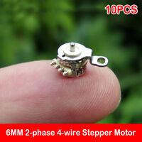 10PCS 2-phase 4-wire 6*4MM Micro Mini Precision Stepper Motor DIY Digital Camera
