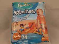 PAMPERS SPLASHERS  SIZE 3-4  16-34 lb 7-15 kg 24 DISPOSABLE SWIM PANTS BRAND NEW