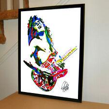 Eddie Van Halen Guitar Rock Music Poster Print Wall Art 18x24