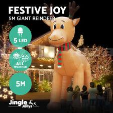 Jingle Jollys Inflatable Christmas Reindeer Xmas Decor LED Lights Outdoor 5M