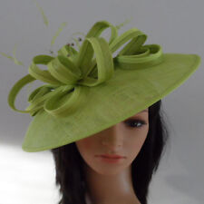 FAILSWORTH LIME GREEN WEDDING ASCOT HAT DISC FASCINATOR MOTHER OF THE BRIDE