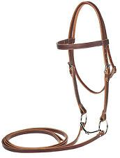 WEAVER DRAFT SIZE LEATHER BRIDLE  SUNSET BROWN WESTERN WORKING HORSE TACK