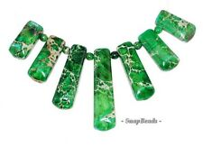 Green Impression Japser Gemstone Green Loose Beads Graduated Set 7 Beads