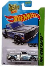 2014 Hot Wheels #217 HW Workshop Heat Fleet Custom '69 Chevy Pickup ZAMAC #011