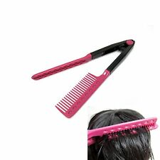 Hair Straightening Tong Brush Hairdressing Salon Styling Comb Hair Setting Tools