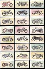 Popular Motorcycles 1950s 1960s Print Art Trade Cards