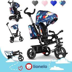 Lionelo Haari Dreirad Kinderdreirad Kinder Lenkstange Fahrrad Baby Kinderwagen