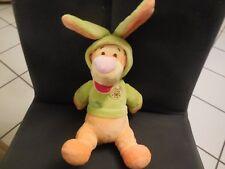 327/ doudou peluche Tigrou déguisé lapin vert brodé Winnie DISNEY NICOTOY 21cm