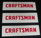 3x Craftsman Tools 4 Red Decals Stickers For Car Truck Windows Toolbox...