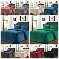 King Crushed Velvet Duvet Cover Set Luxury Bedding Set With Pillow Cases