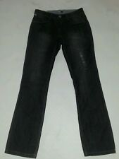 """RIP CURL GREY BLACK DISTRESSED HIPSTER JEANS SLIM STRAIGHT LEG SIZE 25"""" 6 7"""