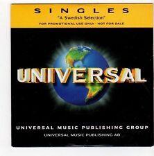 (FA409) Singles, A Swedish Selection, 13 tracks various artists - 2000 DJ CD