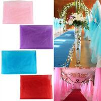 10MLong Sheer Organza Fabric Voile Drape Curtain Wedding Roll Fabric DIY Garland