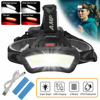 Albrillo LED Headlamp with Red Light Option 5 Modes Waterproof Headlight,