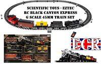 Científico Juguetes Eztec RC Negro Cañón G Escala Infantil Tren Conjunto 45MM
