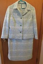 Vintage Fitted Dress & Jacket size 18.5 (Runs small-12) double Knit Flowered-70s